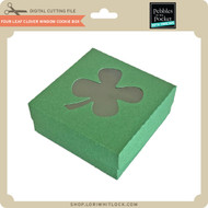 Four Leaf Clover Window Cookie Box