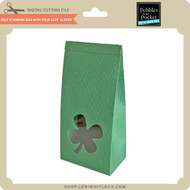 Self Standing Bag with Four Leaf Clover