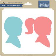 Boy & Girl Silhouette