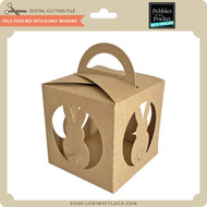 Fold Over Box With Bunny Windows