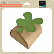 Slide Box with Four Leaf Clover