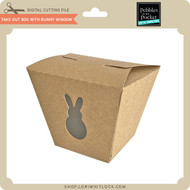 Take Out Box with Bunny Window