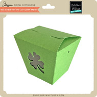 Take Out Box with Four Leaf Clover Window