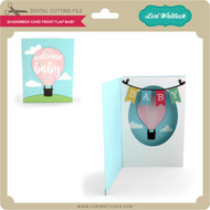 Shadowbox Card Front Flap Baby