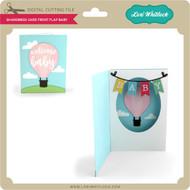 Shadowbox Card Front Flap Baby