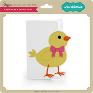 Easter Chick Shaped Card