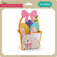 Box Card Easter Basket Bunny