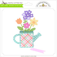 Simply Spring Watering Can Box Card