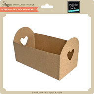 Rounded Crate Box with Heart