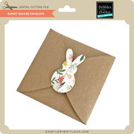 Bunny Square Envelope