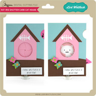 5x7 Iris Shutter Card Cat House