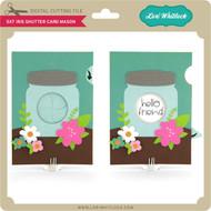 5x7 Iris Shutter Card Mason Jar