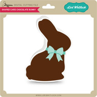 Shaped Card Chocolate Bunny