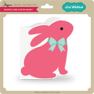 Shaped Card Easter Bunny