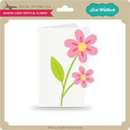 Shaped Card Vertical Flower