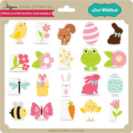 Spring Easter Shaped Card Bundle