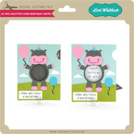 A2 Iris Shutter Card Birthday Hippo