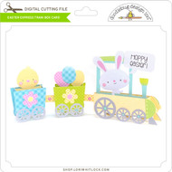 Easter Express Train Box Card
