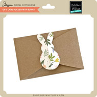 Gift Card Holder With Bunny