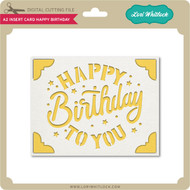 A2 Insert Card Happy Birthday