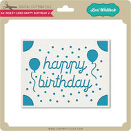 A2 Insert Card Happy Birthday 2