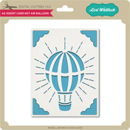 A2 Insert Card Hot Air Balloon