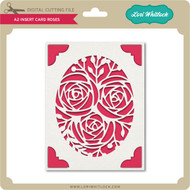 A2 Insert Card Roses