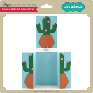 Double Gatefold Card Cactus