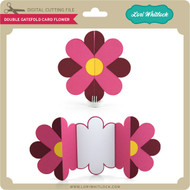 Double Gatefold Card Flower