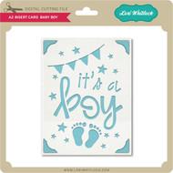 A2 Insert Card Baby Boy