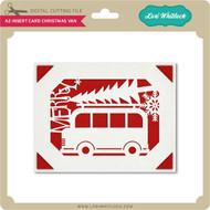 A2 Insert Card Christmas Van