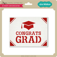 A2 Insert Card Graduation
