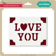 A2 Insert Card Love You