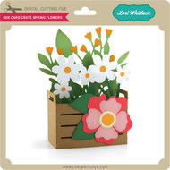 Box Card Crate Spring Flowers