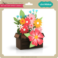Box Card Crate Spring Flowers 3
