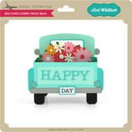 Box Card Flower Truck Back