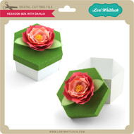 Hexagon Box with Dahlia