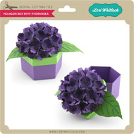 Hexagon Box With Hydrangea