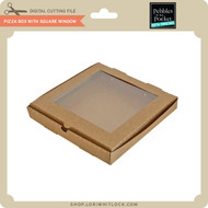 Pizza Box with Square Window