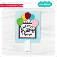 Double Slider Card Birthday Balloons