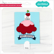 Double Slider Card Birthday Cupcake