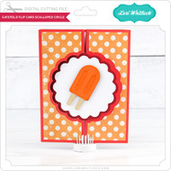 Gatefold Flip Card Scalloped Circle