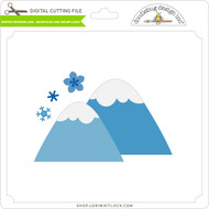 Winter Wonderland - Mountains and Snowflakes