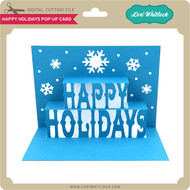Happy Holidays Pop Up Card