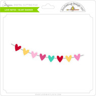 Love Notes - Heart Banner