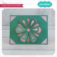 A2 Insert Card  Cut Fold Flower 1