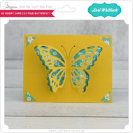 A2 Insert Card  Cut Fold Butterfly 1