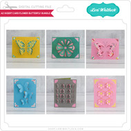 A2 Insert Card Flower Butterfly Bundle