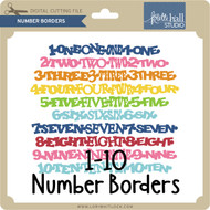 Number Borders