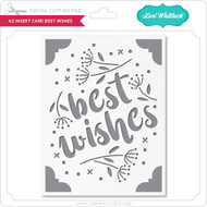 A2 Insert Card Best Wishes